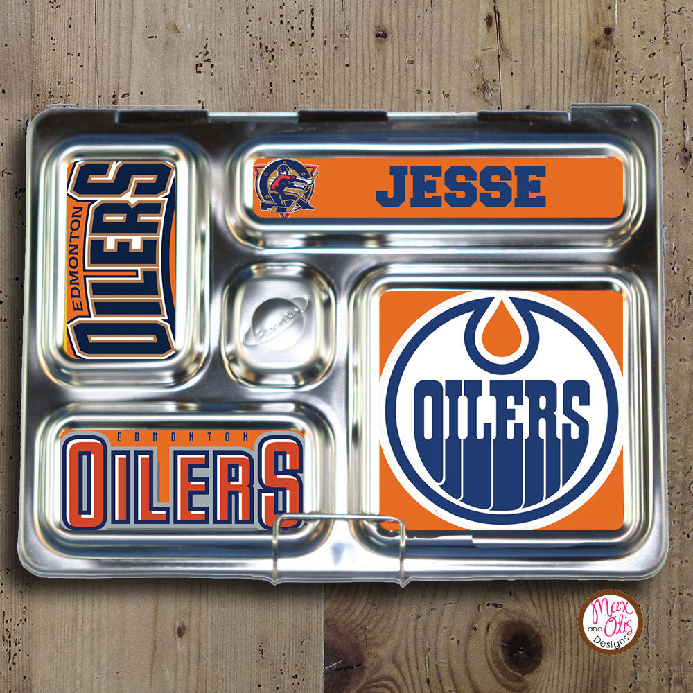 PlanetBox Rover Personalized Magnets -Edmonton Oilers - Max & Otis Designs