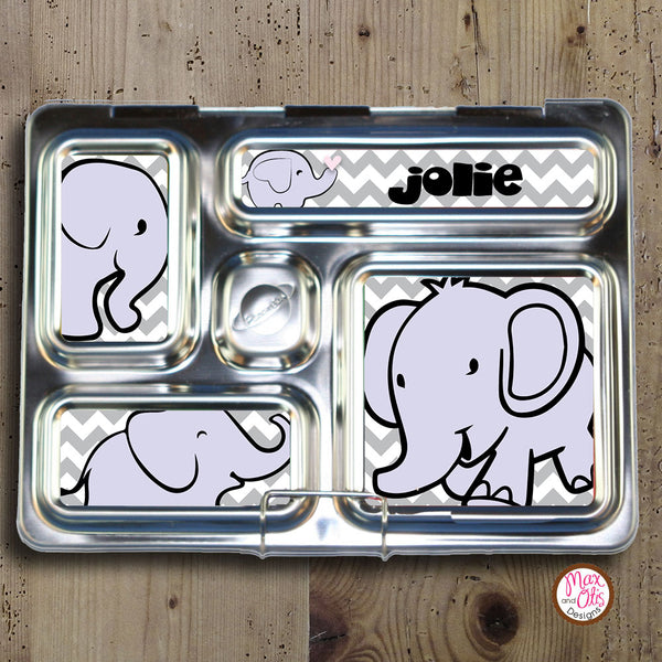 PlanetBox Rover Personalized Magnets - Elephants - Max & Otis Designs