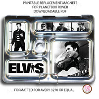 PlanetBox Rover Personalized Magnets - Elvis (non-editable) - Max & Otis Designs