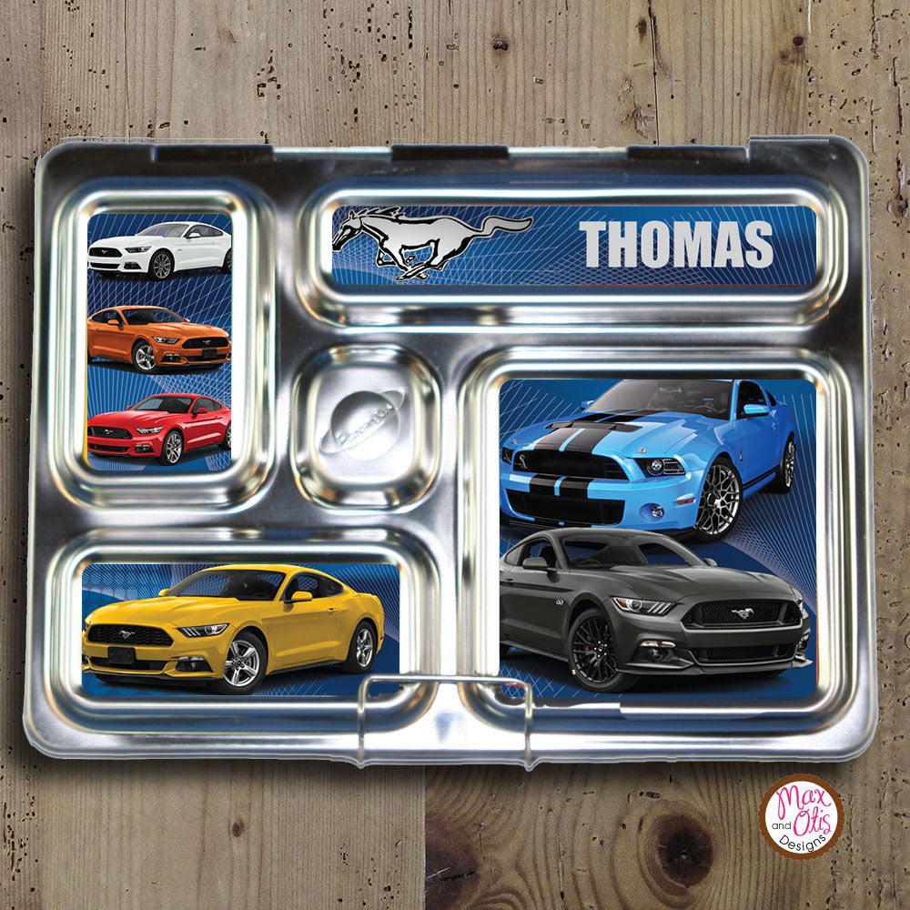 PlanetBox Rover Personalized Magnets - Ford Mustangs - Max & Otis Designs
