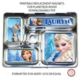 PlanetBox Rover Personalized Magnets - Disney's Frozen - Max & Otis Designs