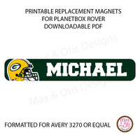 PlanetBox Rover Personalized Magnets - Green Bay Packers - Max & Otis Designs