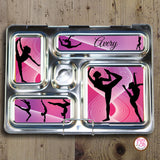 PlanetBox Rover Personalized Magnets - Gymnastics - Max & Otis Designs