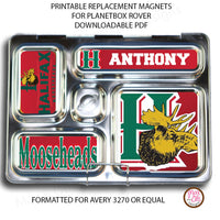 PlanetBox Rover Personalized Magnets - Halifax Mooseheads - Max & Otis Designs