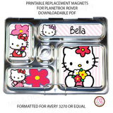 PlanetBox Rover Personalized Magnets - Hello Kitty - Max & Otis Designs