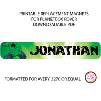 PlanetBox Rover Personalized Magnets - Hulk - Max & Otis Designs