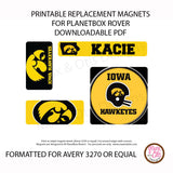 PlanetBox Rover Personalized Magnets - Iowa Hawkeyes - Max & Otis Designs