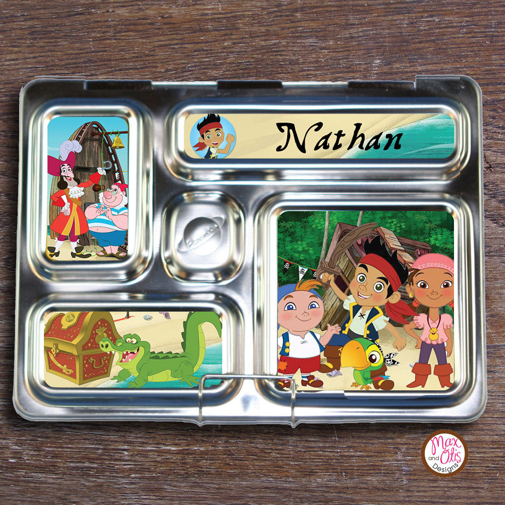 PlanetBox Rover Personalized Magnets - Jake & the Neverland Pirates - Max & Otis Designs