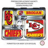 PlanetBox Rover Personalized Magnets - Kansas City Chiefs - Max & Otis Designs
