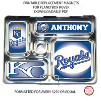 image relating to Kc Royals Schedule Printable known as PlanetBox Rover Tailored Magnets - Kansas Town Royals