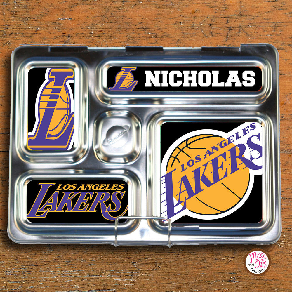PlanetBox Rover Personalized Magnets - LA Lakers - Max & Otis Designs