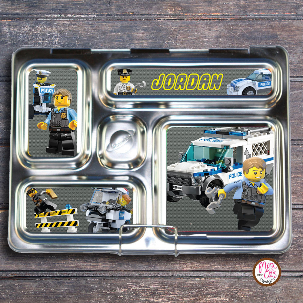 PlanetBox Rover Personalized Magnets - Lego City - Max & Otis Designs