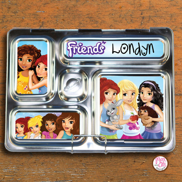 PlanetBox Rover Personalized Magnets - Lego Friends - Max & Otis Designs