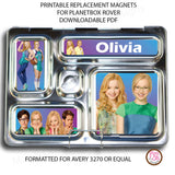 PlanetBox Rover Personalized Magnets - Liv & Maddie - Max & Otis Designs