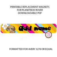 PlanetBox Rover Personalized Magnets - Littlest Pet Shop - Max & Otis Designs