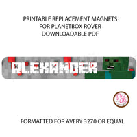 PlanetBox Rover Personalized Magnets - Minecraft Bad Guys - Max & Otis Designs