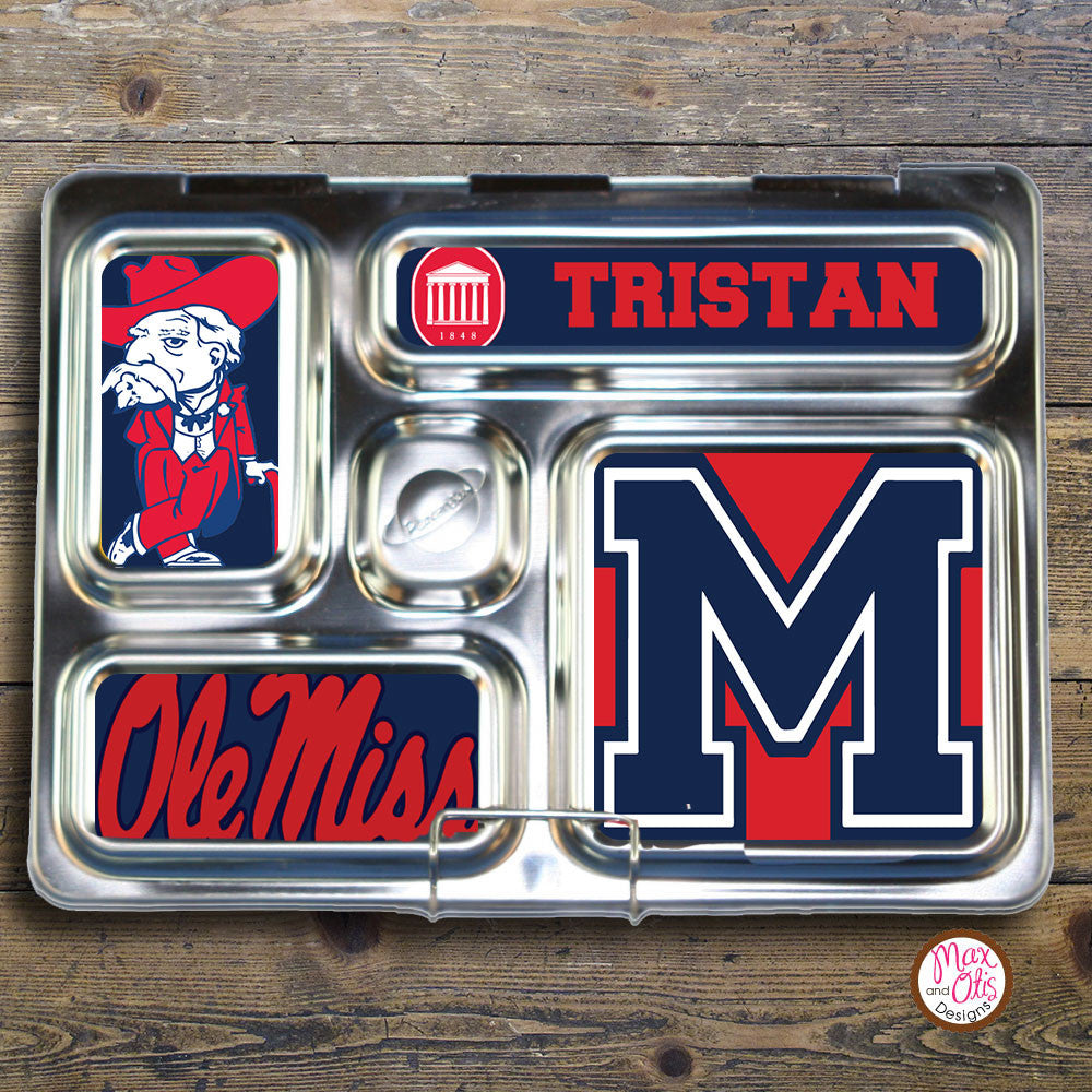 PlanetBox Rover Personalized Magnets - Mississippi Rebels - Max & Otis Designs