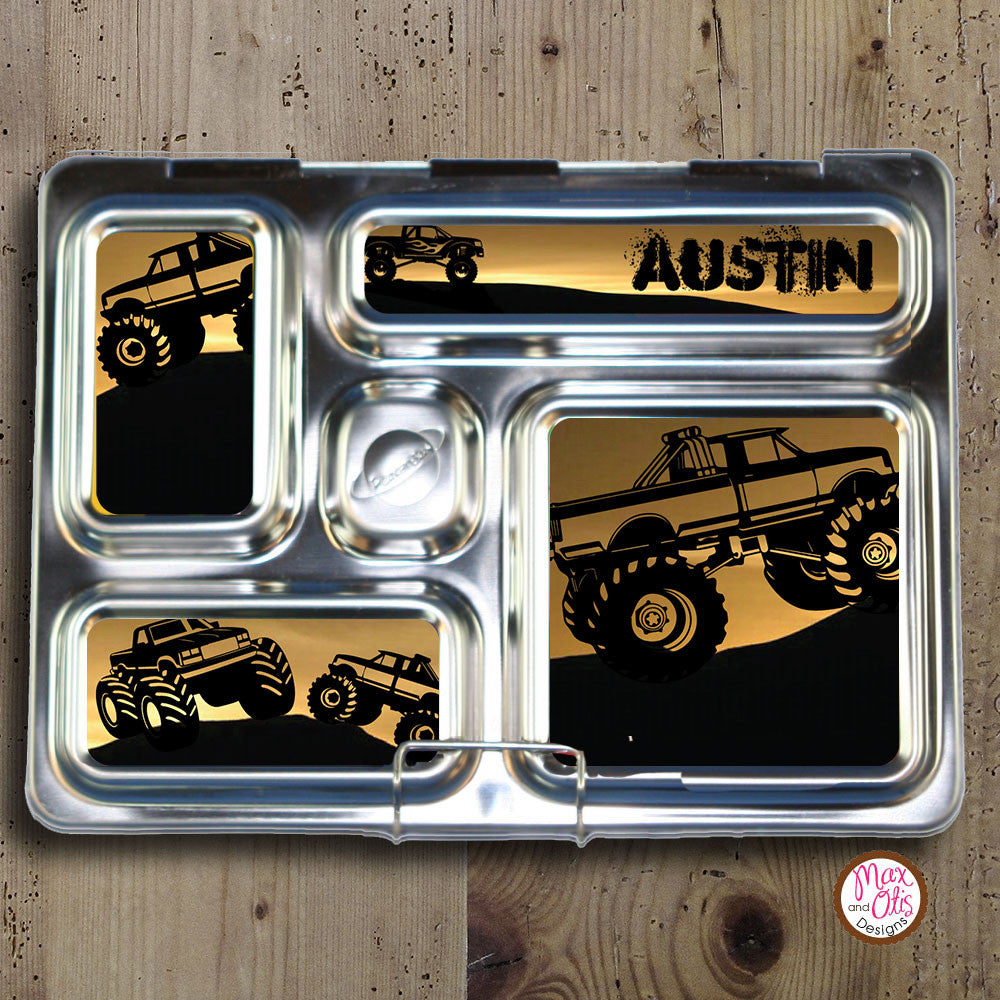 PlanetBox Rover Personalized Magnets - Monster Truck - Max & Otis Designs