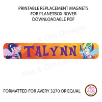 PlanetBox Rover Personalized Magnets - My Little Pony Equestria - Max & Otis Designs