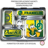 PlanetBox Rover Personalized Magnets - Oregon Ducks - Max & Otis Designs