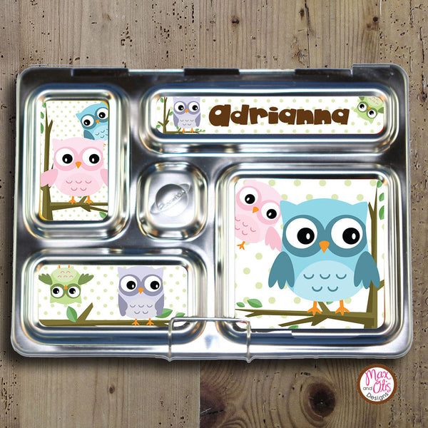 PlanetBox Rover Personalized Magnets - Owls - Max & Otis Designs