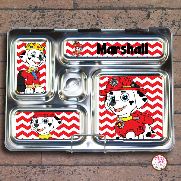 PlanetBox Rover Personalized Magnets - Paw Patrol (Marshal) - Max & Otis Designs