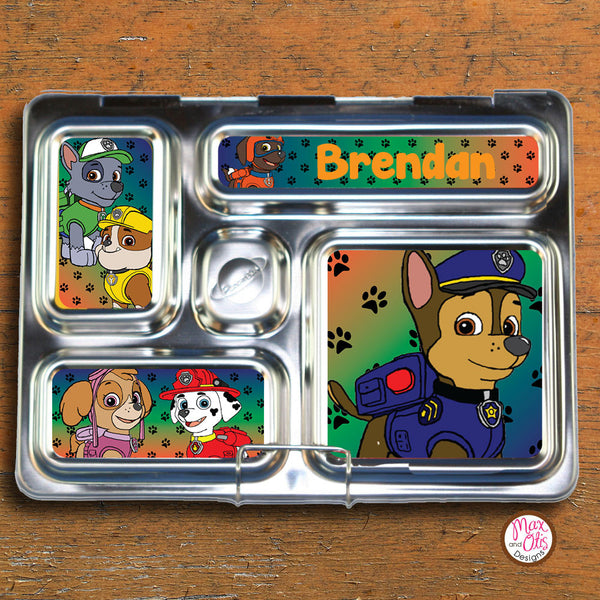 PlanetBox Rover Personalized Magnets - Paw Patrol (Chase) - Max & Otis Designs