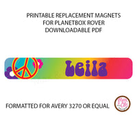 PlanetBox Rover Personalized Magnets - Peace - Max & Otis Designs