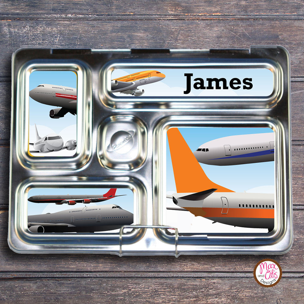 PlanetBox Rover Personalized Magnets - Airplanes - Max & Otis Designs