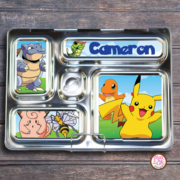 PlanetBox Rover Personalized Magnets - Pokemon - Max & Otis Designs