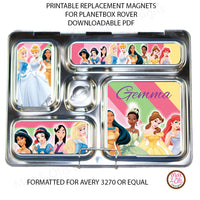 PlanetBox Rover Personalized Magnets - Disney Princesses - Max & Otis Designs