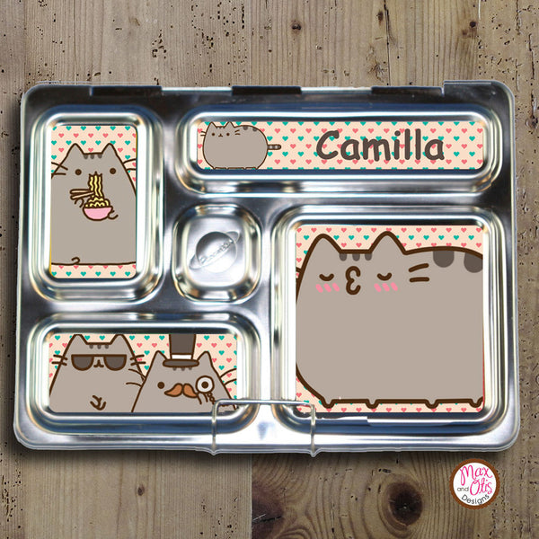 PlanetBox Rover Personalized Magnets - Pusheen - Max & Otis Designs