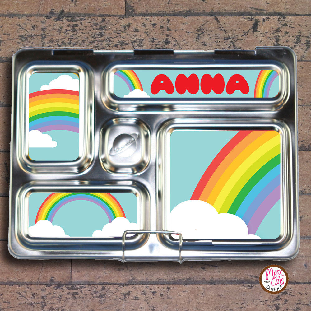 PlanetBox Rover Personalized Magnets - Rainbow - Max & Otis Designs