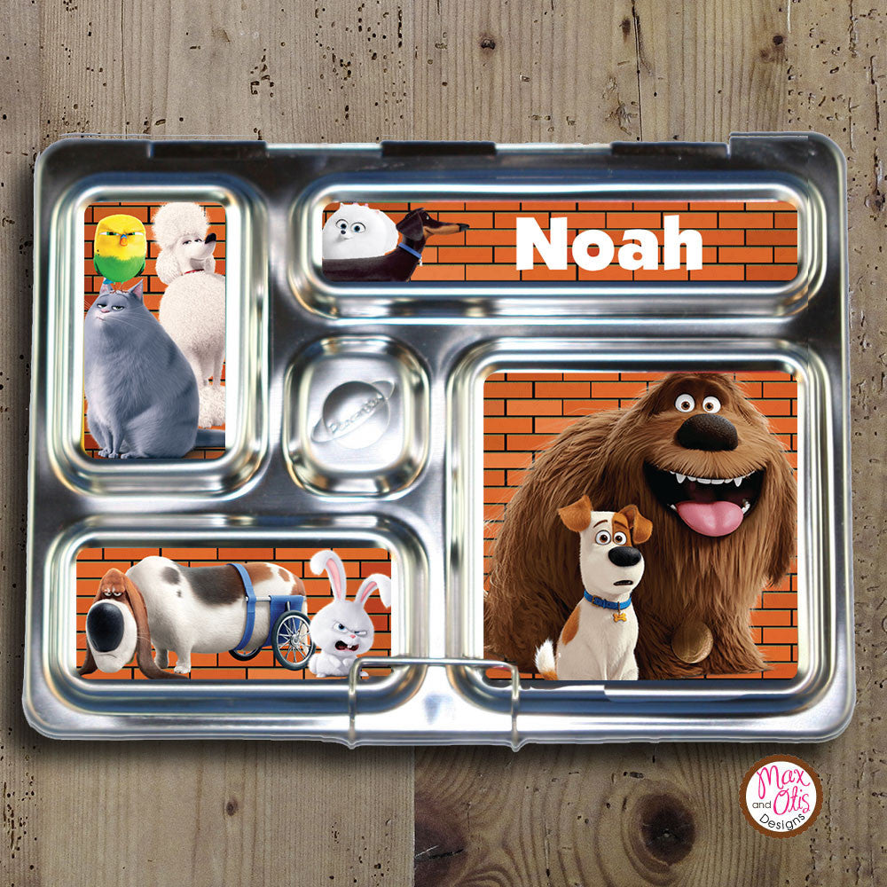 PlanetBox Rover Personalized Magnets - Secret Life of Pets - Max & Otis Designs