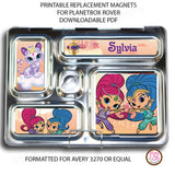 PlanetBox Rover Personalized Magnets - Shimmer & Shine - Max & Otis Designs