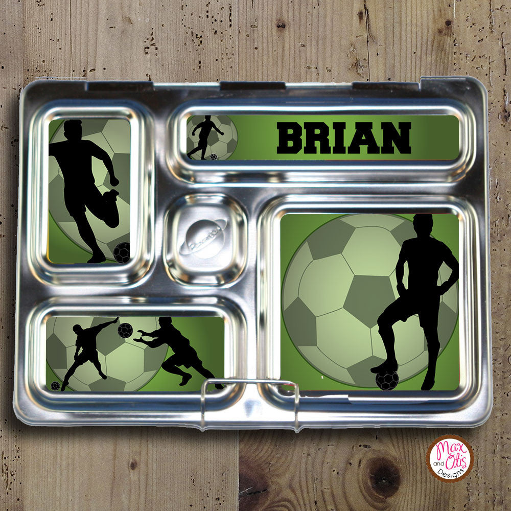 PlanetBox Rover Personalized Magnets - Soccer - Max & Otis Designs
