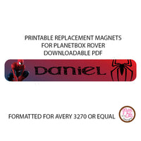PlanetBox Rover Personalized Magnets - Spiderman - Max & Otis Designs