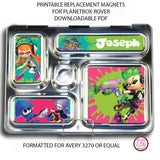 PlanetBox Rover Personalized Magnets - Splatoon - Max & Otis Designs