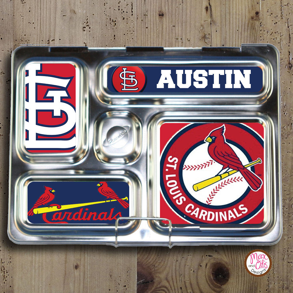 PlanetBox Rover Personalized Magnets - St. Louis Cardinals - Max & Otis Designs