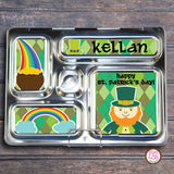PlanetBox Rover Personalized Magnets - St. Patrick's Day - Max & Otis Designs