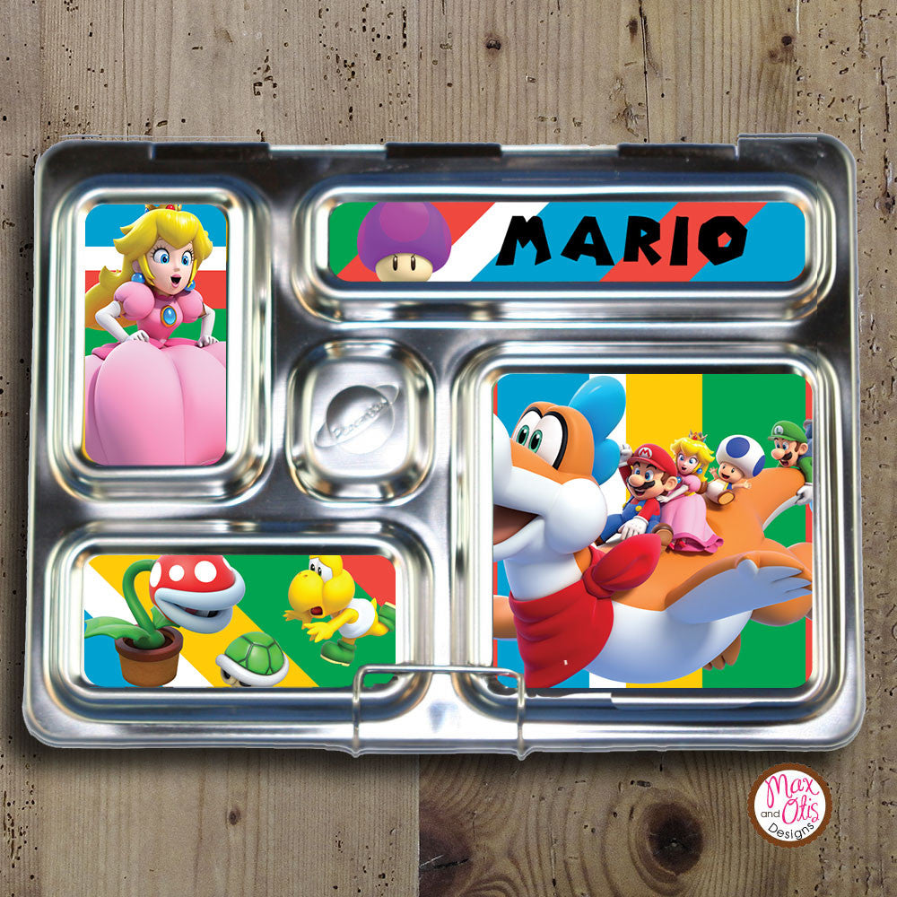 PlanetBox Rover Personalized Magnets - Super Mario World - Max & Otis Designs