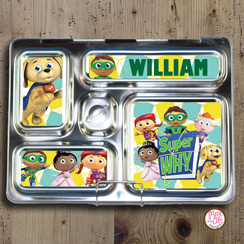 PlanetBox Rover Personalized Magnets - Super Why - Max & Otis Designs