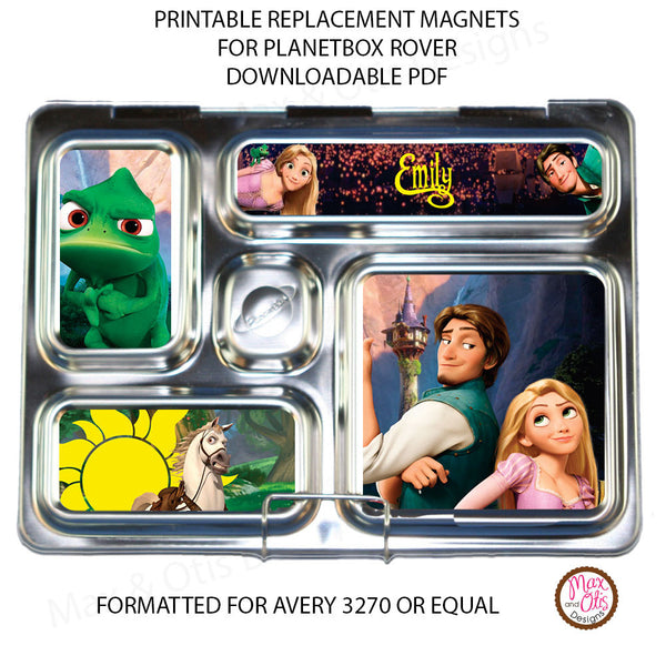 PlanetBox Rover Personalized Magnets - Tangled - Max & Otis Designs