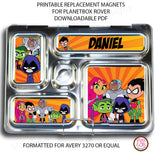 PlanetBox Rover Personalized Magnets - Teen Titans - Max & Otis Designs