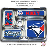 PlanetBox Rover Personalized Magnets - Toronto Bluejays - Max & Otis Designs