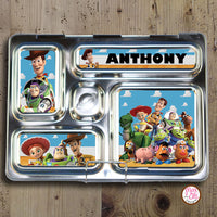 PlanetBox Rover Personalized Magnets - Toy Story - Max & Otis Designs