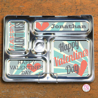 PlanetBox Rover Personalized Magnets - Valentine's Day (Blue) - Max & Otis Designs