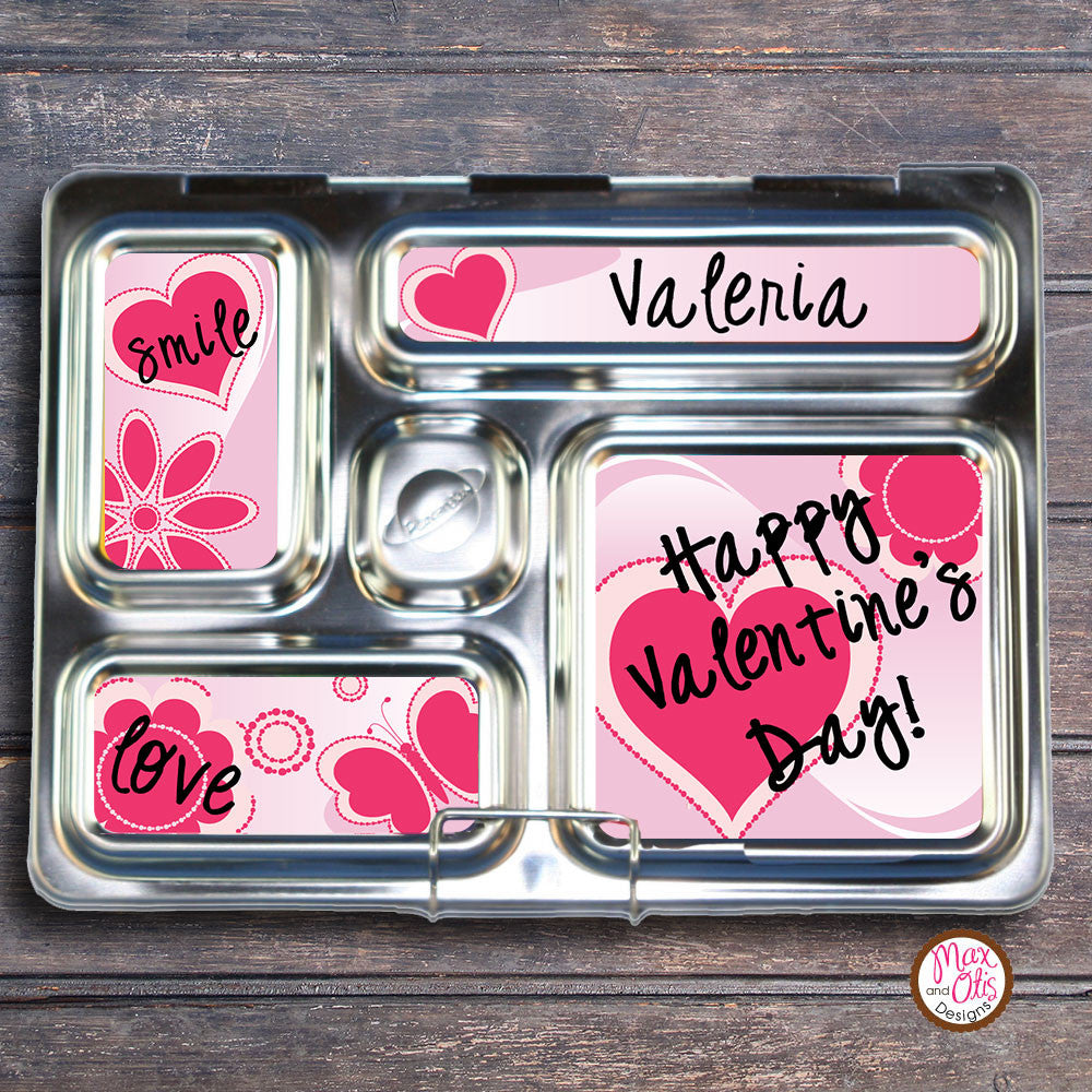 PlanetBox Rover Personalized Magnets - Valentine's Day (Pink) - Max & Otis Designs