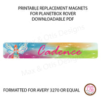 PlanetBox Rover Personalized Magnets - Winx Club Fairies - Max & Otis Designs