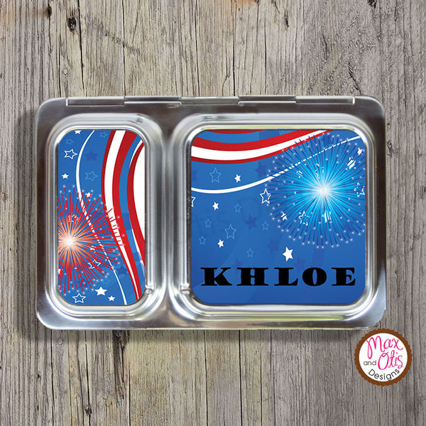 PlanetBox Shuttle Personalized Magnets - 4th of July - Max & Otis Designs